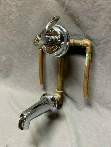 Antique Chrome Brass Bathtub Faucet Valve Mixer Old Vtg Kohler Niedecken 33-20J