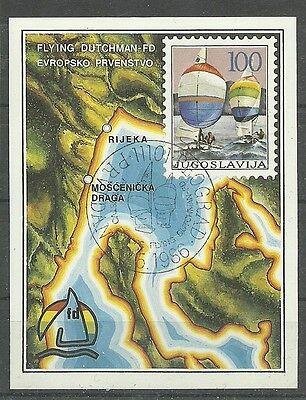 SEGEL-EM 1986/ Jugoslawien MiNr Block 28 o Ersttagstempel