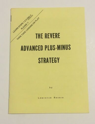 1973 The Revere Advanced Plus-Minus Strategy Blackjack Pamphlet Lawrence Revere
