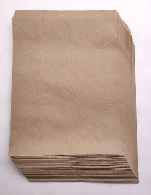 50 Qty 10 Paper Mart Recycled Flat Brown Kraft Bags - 10x13 9-78 X 12-38