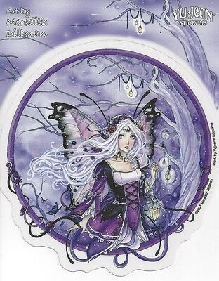HANGING LIGHTS FAERIE Purple Faery Sticker Fairy Car Decal Meredith Dillman