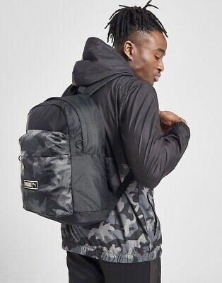 Puma Sportswear Black Camo Backpack Men & Women Gym School Bag Sport From JD