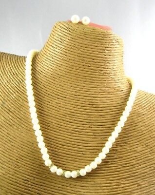Gorgeous Pearl Beads Necklace Earring Set Costume Women Fashion (Gorgeous Pearl Set)