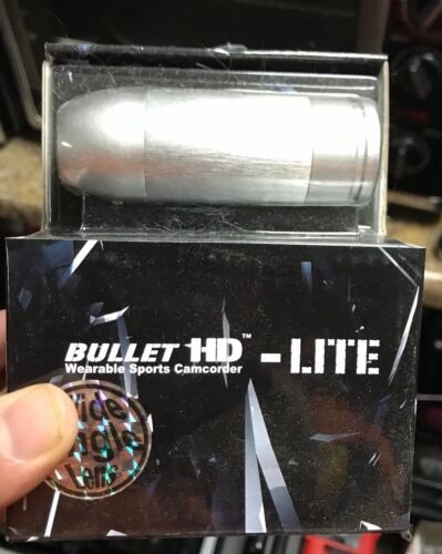 BULLET HD 720P FIREMAN HELMET FIRE PROOF+ACE BLACK JACK MOUNT SILVER CAM 32GB
