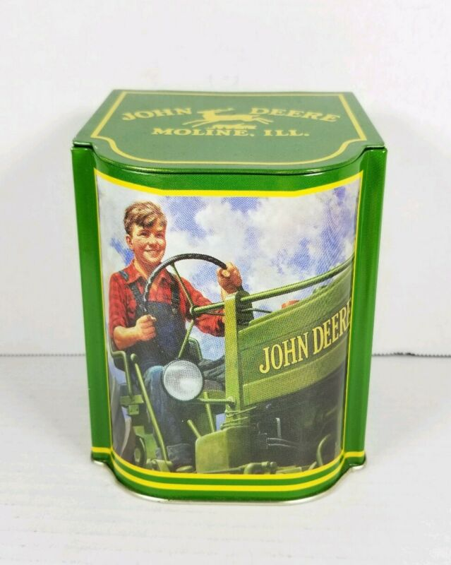 John Deere Tin Box Boy On Tractor Moline ILL. Licensed Product 5.5x4x4