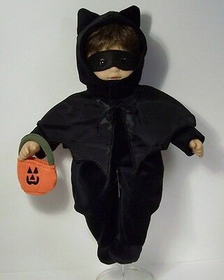5pc BLACK Bat Halloween Costume Bag Mask Cape Doll Clothes For Bitty Baby (Debs)](Cabbage Patch Doll Halloween Costume For Baby)