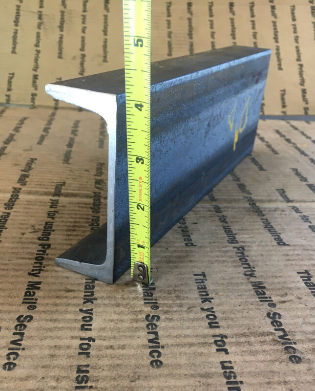 """4"""" STEEL CHANNEL  Bracing welding shop stock 1 1/2"""" x 4"""" x 12"""" L"""