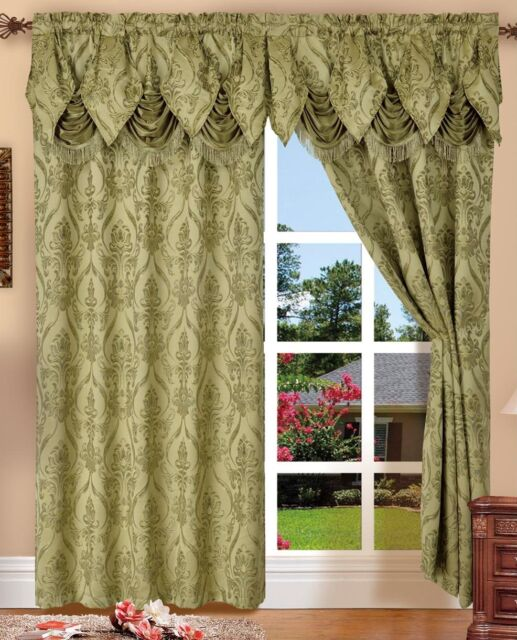 Curtains Ideas 54 curtain panels : Elegant Comfort Penelopie Jacquard LOOK Curtain Panels 54 by 84 ...