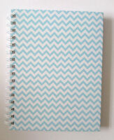 Aqua Zigzag A5 Journal Notebook 1cm Wide Lined Pages Spiral Bound Hard Cover - tjm ltd - ebay.co.uk