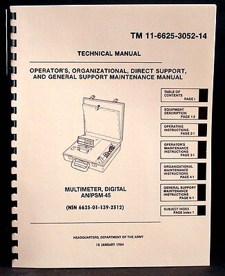 Army Manual Simpson 467 Anpsm-45 Digital Multimeter