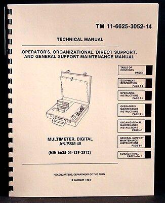 Army Manual Simpson 467 Anpsm-45 Digital Multimeter