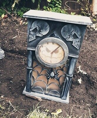 Animated Haunted Clock Wall Entrance Halloween Decoration Prop Noise Light - Halloween Entrance Decorations