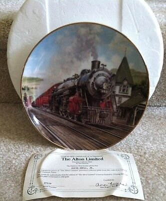 The Alton Limited Train Plate Jim Deneen Artaffects Danbury Mint Signed #d