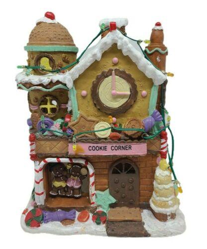Cookie Corner Christmas Village Store Front Lights Up Multi Color Unbranded