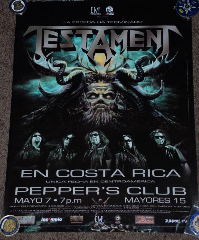 #61 Testament Costa Rica tour posters