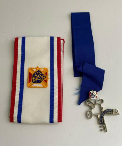 Vintage Knights of Columbus Treasurer Pin and Sash