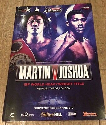 ANTHONY JOSHUA V CHARLES MARTIN - HEAVYWEIGHT TITLE PROGRAMME - 9 APRIL 2016