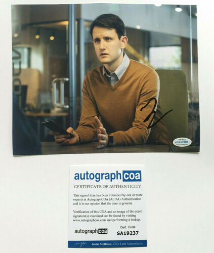 Zach Woods The Office / Silicon Valley Signed Autographed 8x10 Photo ACOA