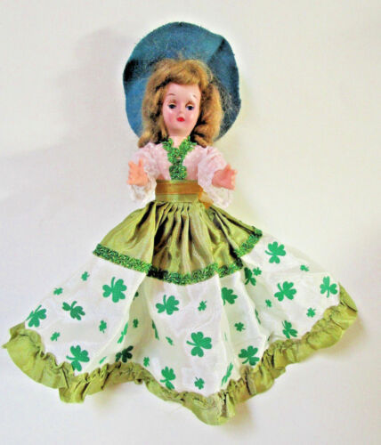 Vintage St. Patrick's Day Doll, Irish Colleen, Original Clothes