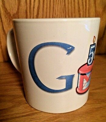 Google Gmail Beta 5Th Anniversary 2009 White Ceramic Large Logo Coffee Cup   Mug