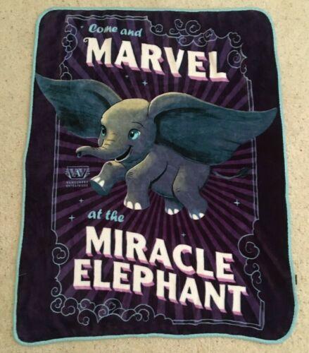 Disney 2018 Northwest DUMBO Movie Soft Blanket Marvel Miracle Elephant 45 x 38