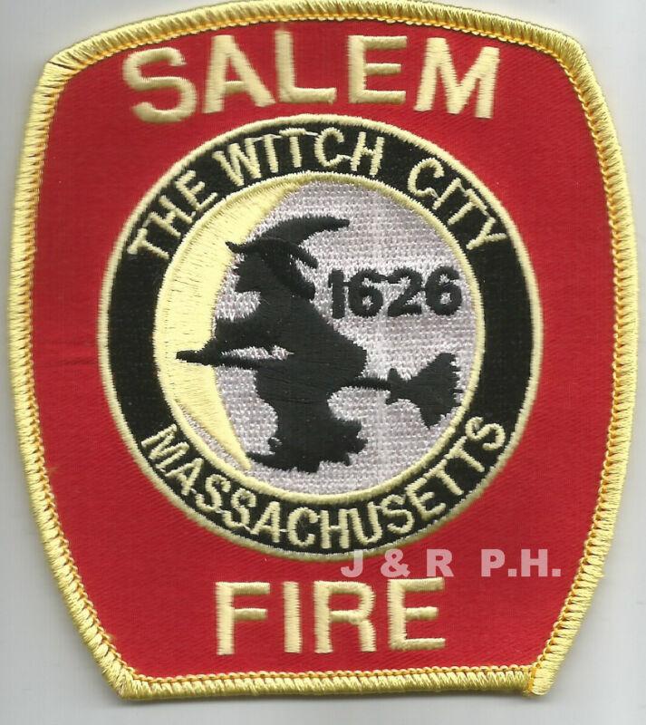 """Salem - 1626, Massachusetts  """"Witch City""""   (3.5"""" x 4"""" size)  fire patch"""