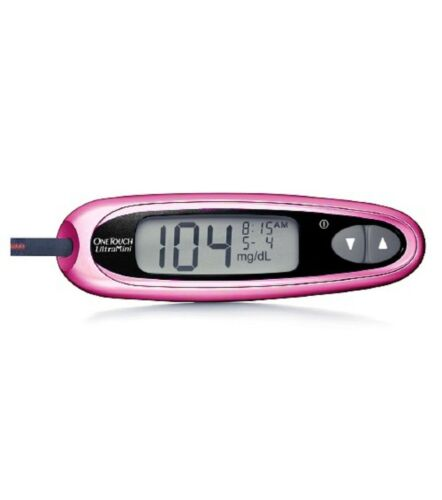 OneTouch Ultra Mini Glucose Meter - Pink Manual & Generic Po