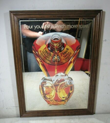 Vintage Dimple Pinch Bottle Scotch Advertising Mirror Sign Haig & Haig