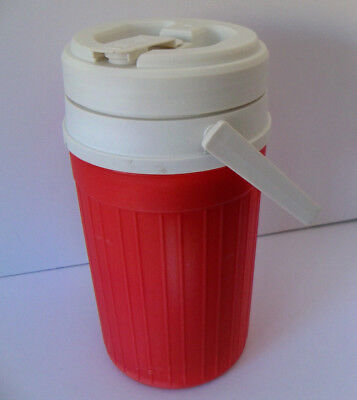 Vintage MID CENTURY FIESTA PRODUCTS /  Red /  Half Gallon Handle Thermos USA