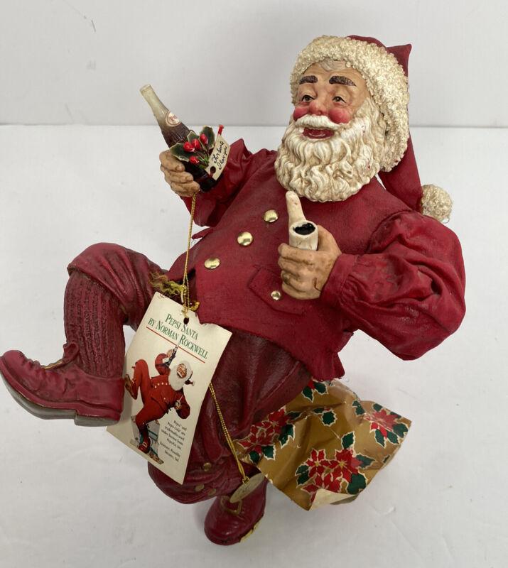 Possible Dreams CLOTHTIQUES Rockwell Pepsi Santa Claus  1991 Vtg