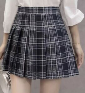 Plaid skirt - pleated
