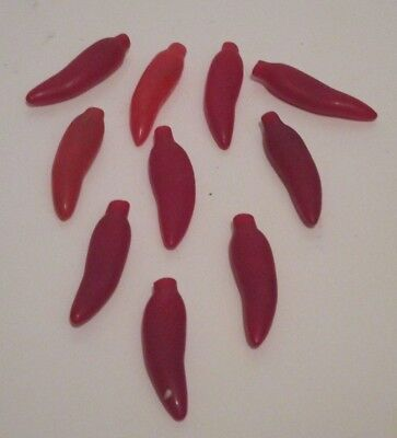 VINYL RED CHILI PEPPER HOLIDAY LIGHT STRING COVERS (ONLY) LOT/10 FOR YOUR LIGHTS Chili Pepper String Light Covers