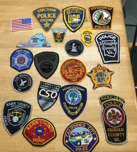 NICE LOT OF 20 LAW ENFORCEMENT PATCHES  PD-4