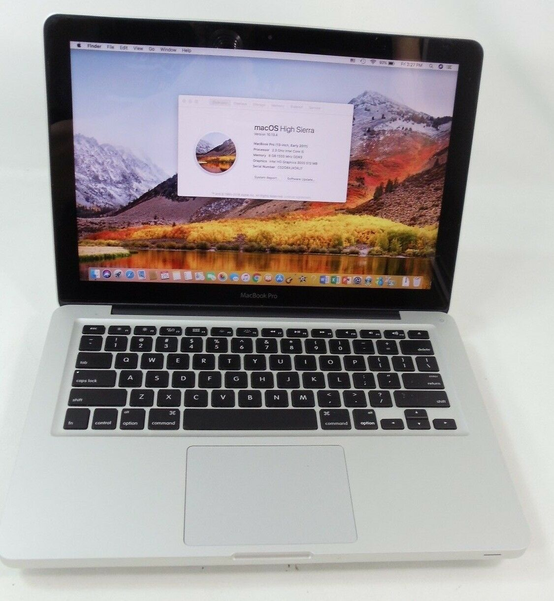 "Apple 2011 MacBook Pro 13"" 2.3GHz i5 500GB 8GB MC700LL/A Microsoft Office 2016"