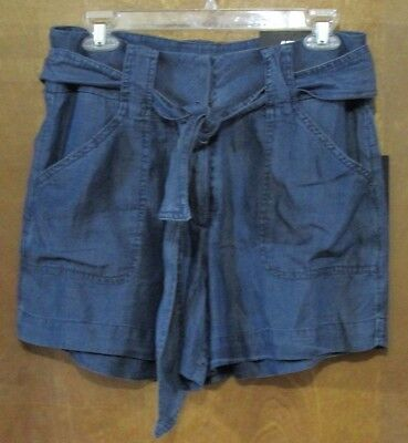 """Used, Ladies """"Apt 9"""" Size 10, Tencel (Blue), Essentials, Mid Rise, Self Belt, Shorts for sale  Shipping to India"""