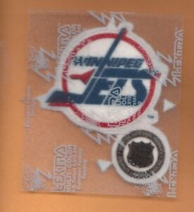 OLD WINNIPEG JETS 3 inch easy IRON ON OLD LOGO PATCH Unsold Stock