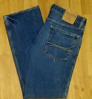HOLLISTER Sz 31X30 Classic Straight Men's Pants Trousers Denim Blue Jeans!
