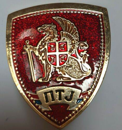 POLICE SERBIA PTJ SPECIAL OPERATIONS UNIT ANTI TERRORIST HAT BADGE SIGN