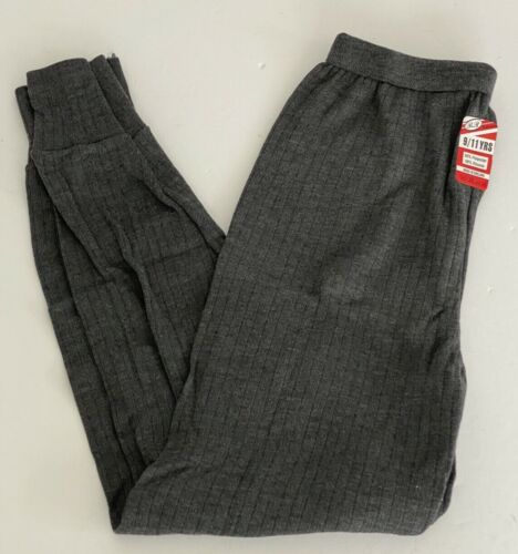 Boys Thermal Leggings Trousers Age 9-11 yrs Grey Ribbed Base Layer Soft Outdoor