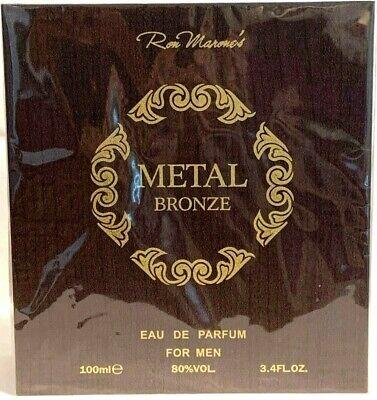 Metal Spray Cologne (Metal Bronze / Ron Marone, Men's Cologne EDP 3.4 oz / 100 ml Spray)