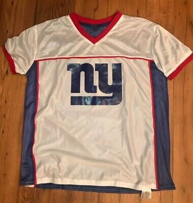 NEW YORK GIANTS reversible flag football jersey Adult M NFL Play 60 red blue