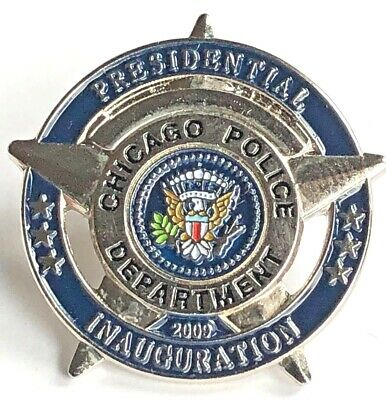 CHICAGO Police 2009 BARACK OBAMA Presidential Inauguration Lapel Pin - SILVER for sale  Shipping to Canada