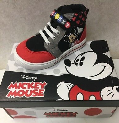Mickey Mouse Shoes Toddler (Disney Mickey Mouse High Top Boys' Toddler Oxford **New in)
