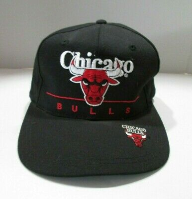 Vintage I WINS Chicago Bulls BLACK Snap Back Hat NBA Collectible
