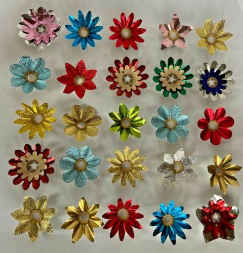 Variety Lot of 25 Vintage Christmas Tree Light Foil Reflectors  MB17