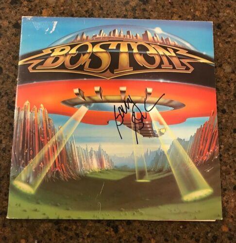 * BARRY GOUDREAU * signed autographed vinyl album * BOSTON * DONT LOOK BACK * 3