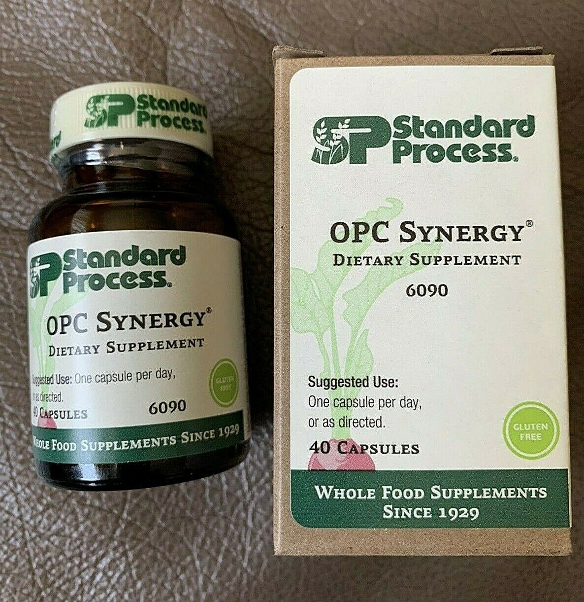 Standard Process OPC Synergy 40 Capsules, New and Sealed in Box