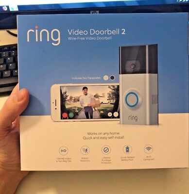 NEW Ring Video DoorBell 2 WIFI Video Wireless doorbell BEST GIFT 🎁 2018 (Best Ring Video Doorbells)