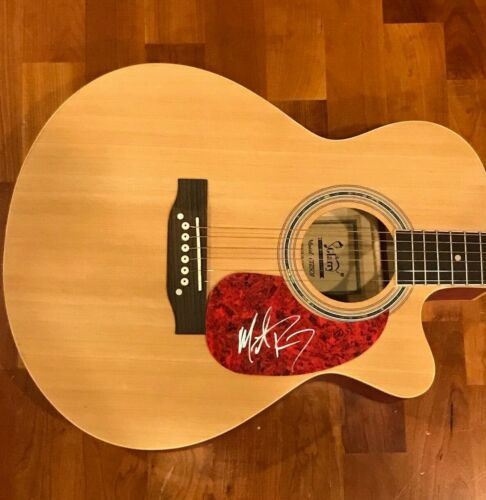 * MICHAEL RAY * signed acoustic guitar * ONE THAT GOT AWAY * PROOF * 2