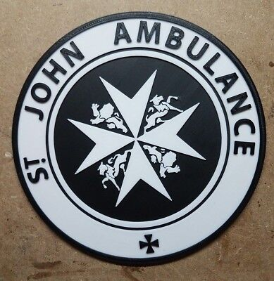 St. Johns Ambulance Tardis Sign (3d Printed Doctor Who)